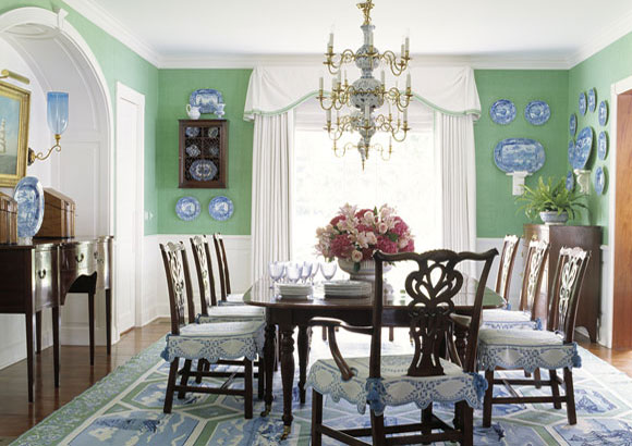 Blue Paint For Dining Room: Green With Envy